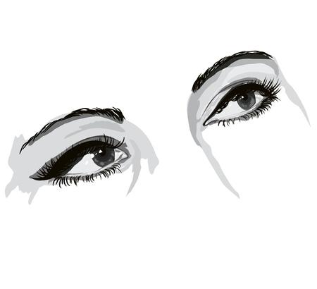 glowing skin: ojos Vectores