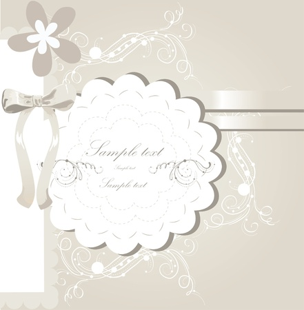 wedding invitation card design Stock Vector - 10999773