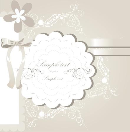 wedding invitation card design Stock Vector - 10999773