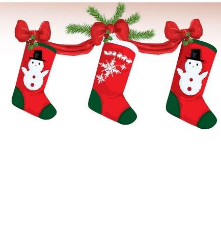 natale: illustration of christmas socks