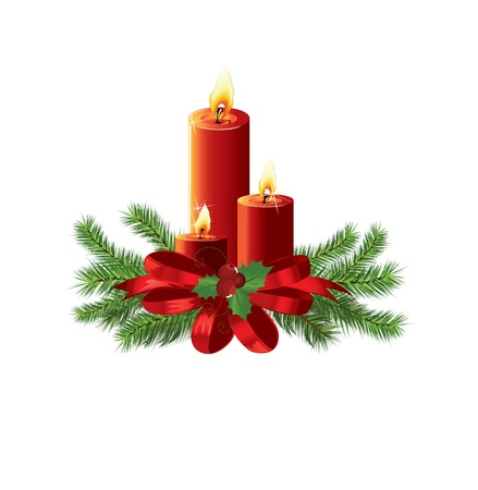 pine needles: Christmas design vector