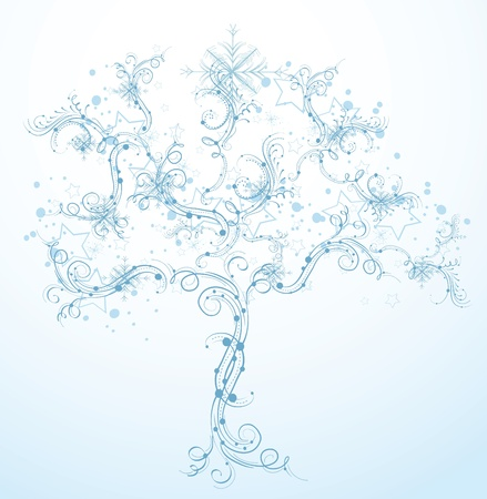 beautiful abstract vector winter tree design  Vector
