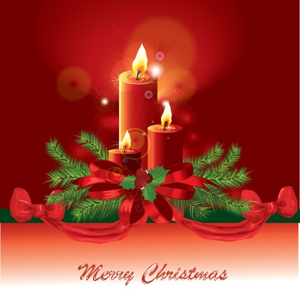 Christmas candle image  Vector