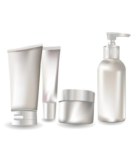 Cosmetic container set  Ilustração