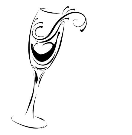coupe de champagne: Verre de champagne R�sum�