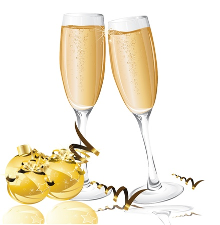 champagne celebration: holiday background with New Year