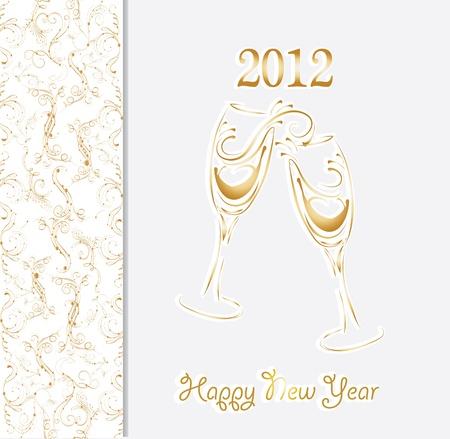 Nieuw jaar uitnodigingskaart