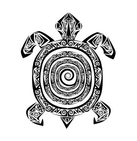 schildpad tattoo Stock Illustratie