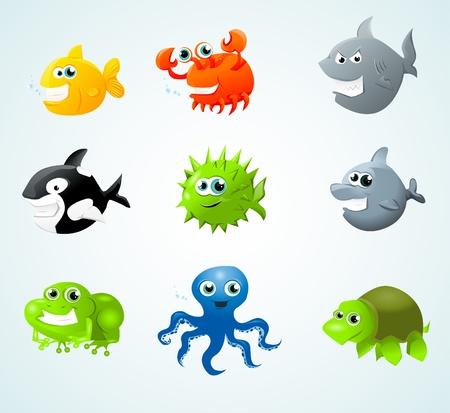 aquatic reptile: sea animals