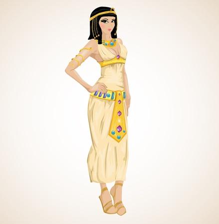 beautiful girl stylized into Cleopatra