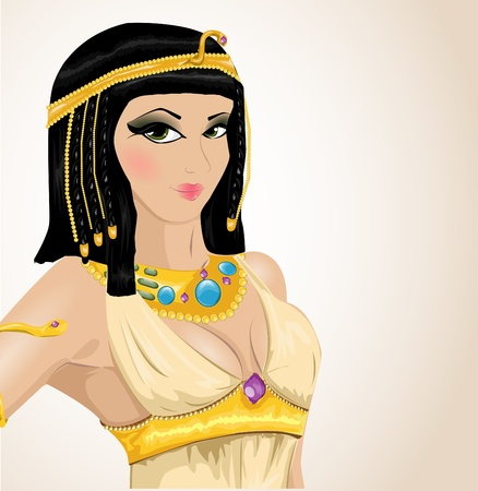egyptian woman: illustrated Cleopatra