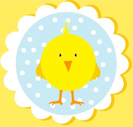 chick: linda tarjeta de Pascua Vectores