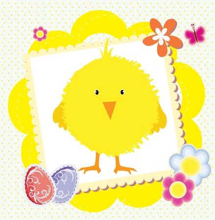 Tarjeta de Pascua Ilustración de vector