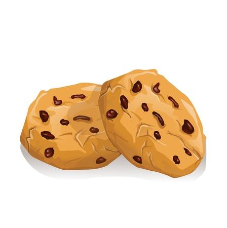 chocoladekoekjes Stock Illustratie