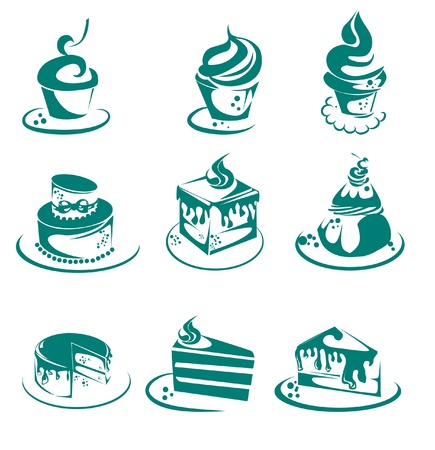 collection of cakes and Cupcakes