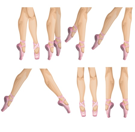 collection of ballet slippers illustration Vector