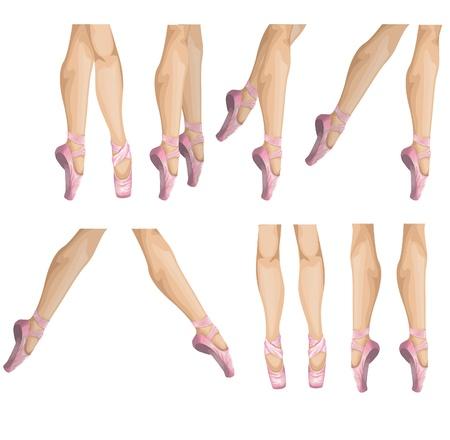 ballet slippers:  collection of ballet slippers illustration Illustration