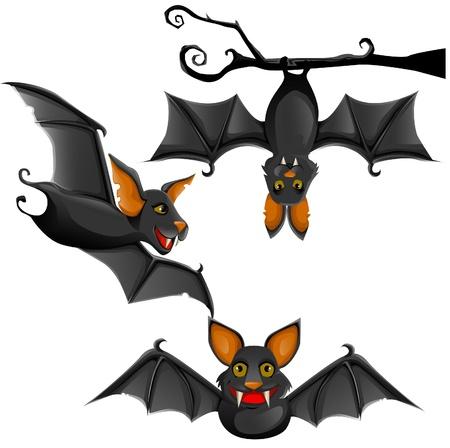 murcielago: ilustración lindo murciélago Vectores