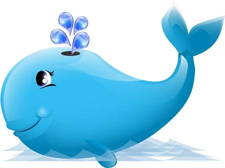 flipper: Illustration d'une baleine mignonne Illustration