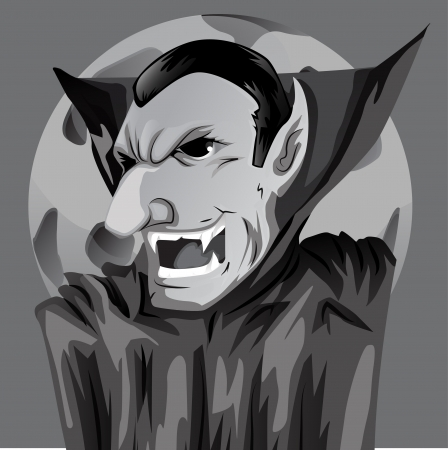Cartoon Count Dracula  Vector
