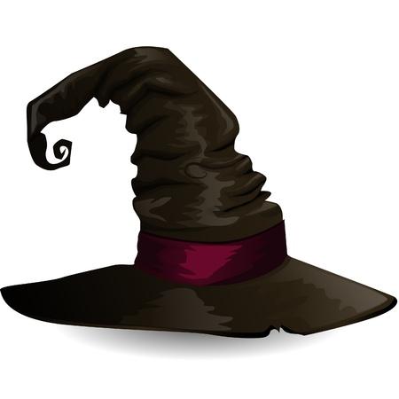 hat trick: Strega cappello Vettoriali