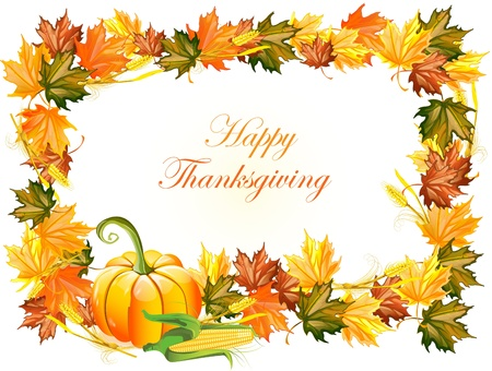 illustration of thanksgiving day background  Vector