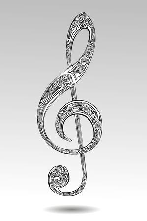 abstract melody: Abstract violin key