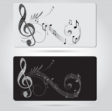 Music cards templates