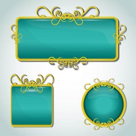 classical style: decorative labels