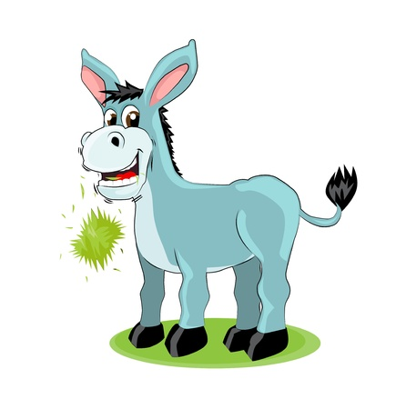 mule: Cute donkey Illustration