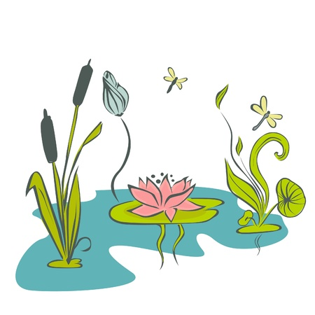 Abstract Water Flower Stock Vector - 19350417