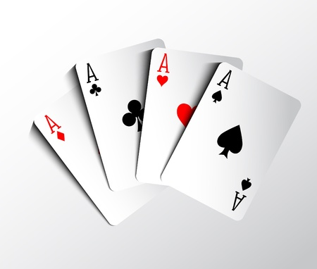 ace of spades: Poker cards