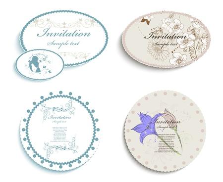 wedding reception decoration: Invitation cards