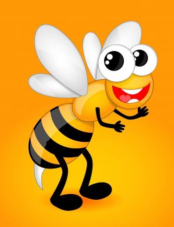 abeja reina: Cartoon bee