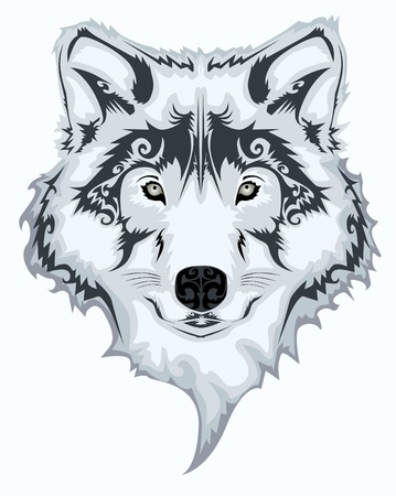 white wolf: Tribal wolf Illustration