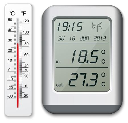 digital thermometer: Termometro normale e digitale