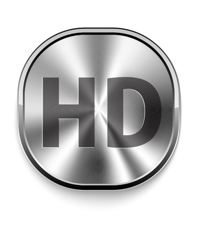 high definition: Metal HD Icon Illustration