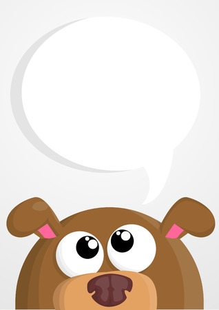 lap dog: Cute cartoon dog with speech bubble