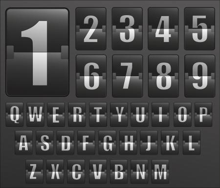 scoreboard timer: Timetable with Alphabet Illustration