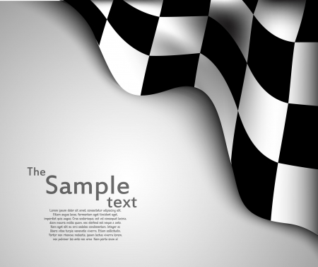 Checkered flag  background Stock Vector - 24328434