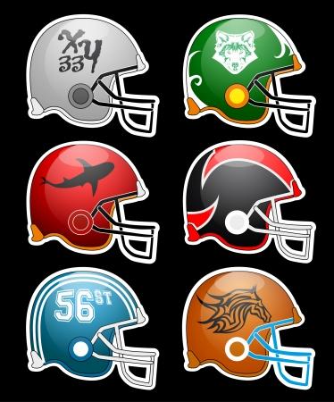 Football Helmets Stock Vector - 24328436
