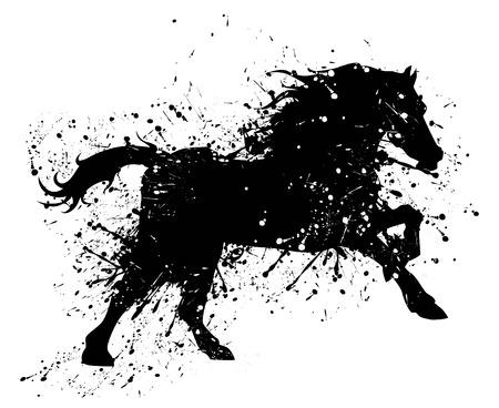 steeplechase: Grunge horse