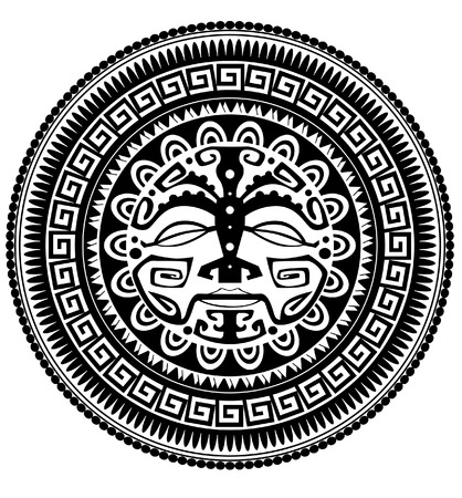 Polynesische tatoeage Stock Illustratie
