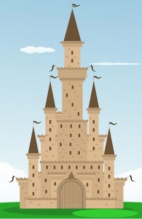 turret: Cartoon castle Illustration