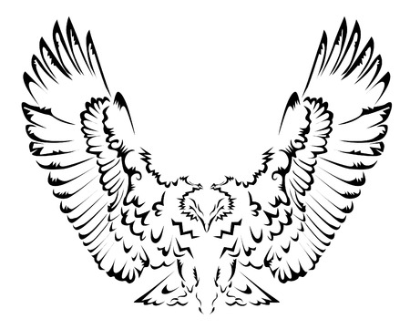 Abstract eagle tattoo Vector