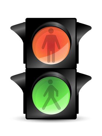 semaforo peatonal: Semáforo Vectores