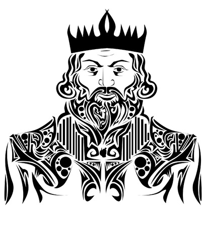 medieval king: Abstract king