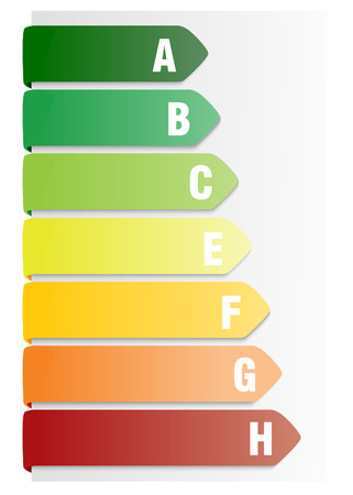 low scale: Energy efficiency rating Illustration