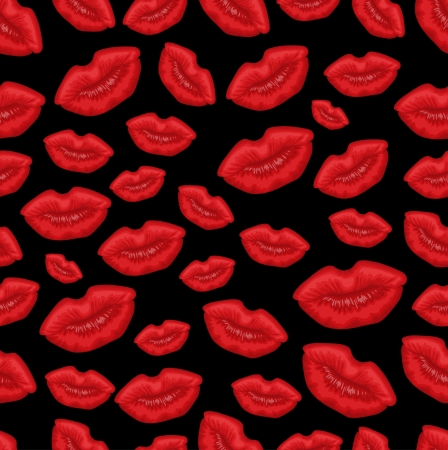 Lip seamless background Vector