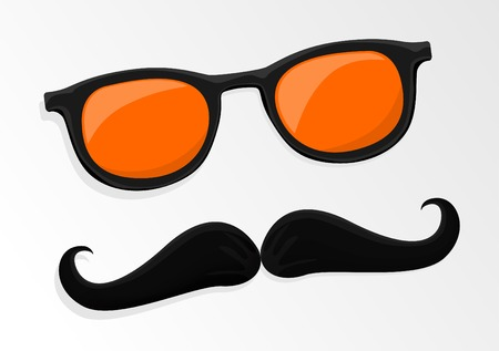 Hipsters mustache and glasses Vector